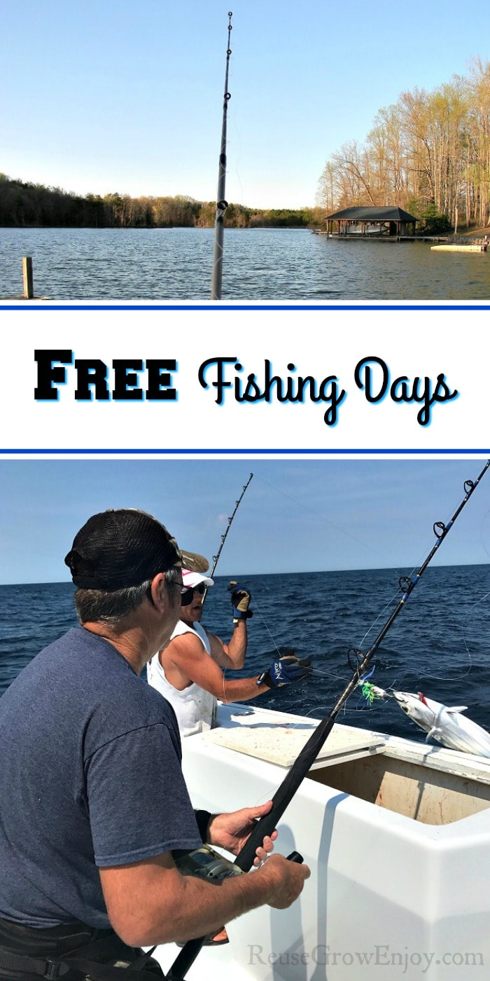 If you like to fish but don't have a license, you will want to be sure to check out these free fishing days. Great way to have a fun enjoyable day for free!