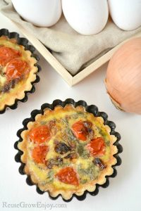 Mini tarts make for a great snack or even to serve as an appetizer. This goat cheese and tomato mini tarts recipe is not only super tasty, it's healthy!