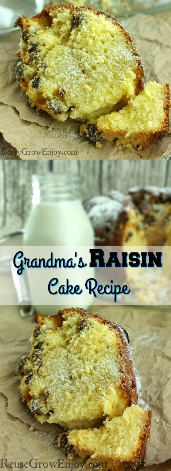 Grandma's Raisin Cake Recipe