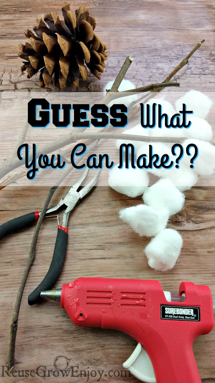 Can you guess what farmhouse style decor you can make with these supplies? Click over and I will show you how to do this easy DIY! You will be pretty shocked when you see what it is!