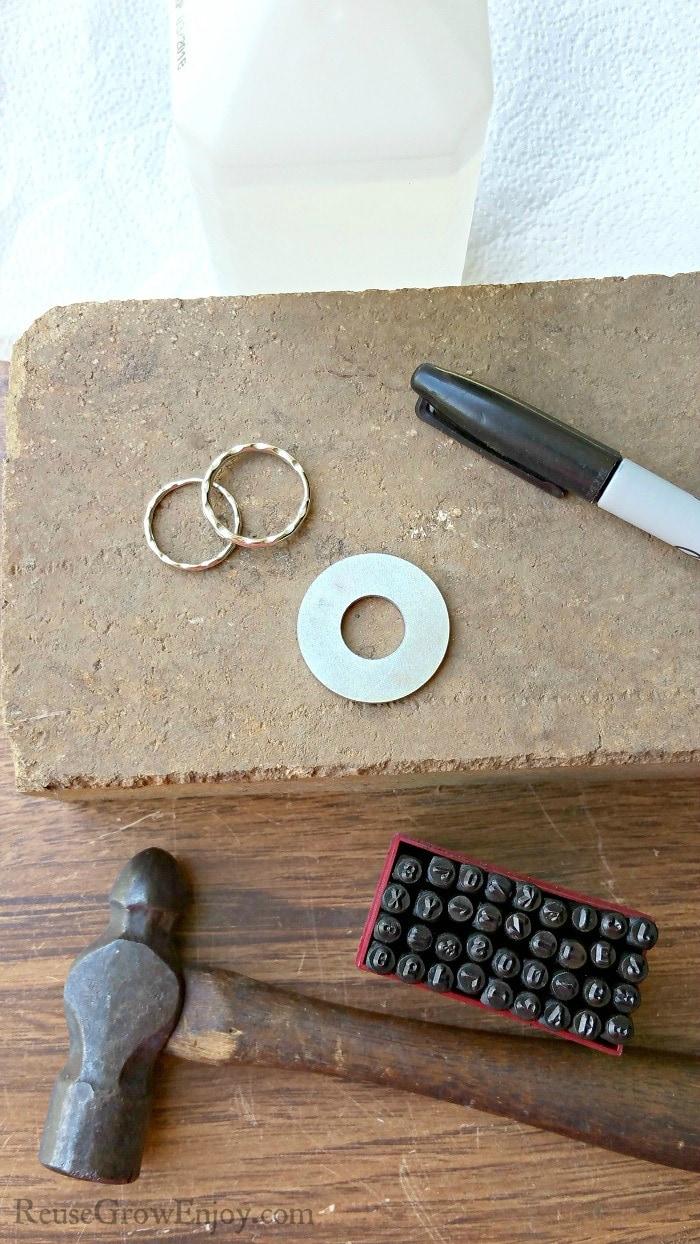 Hand Stamp A Washer Keychain Supplies