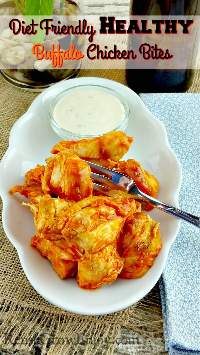 Healthy Buffalo Chicken Bites