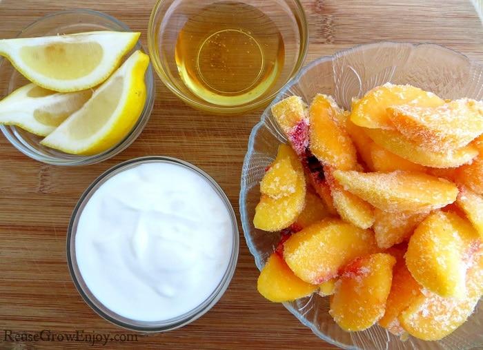 Healthy Peach Frozen Yogurt
