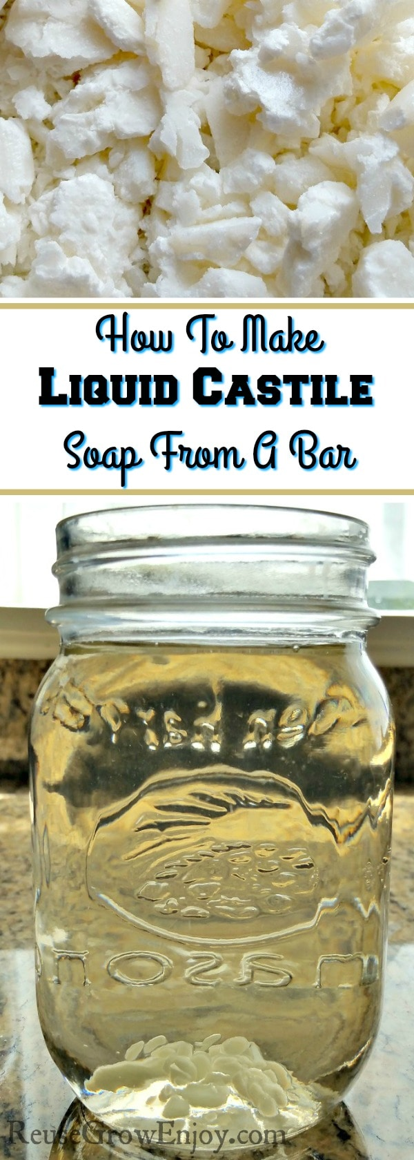 Like to use liquid castile soap but don't have it in the budget to buy it? I am going to show you How To Make Liquid Castile Soap From A Bar! It is SO much cheaper this way!