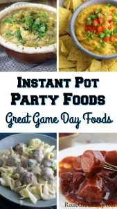 Having a party or get together and looking for easy party foods? If you have an Instant Pot, I have rounded up some of the best Instant Pot party foods for you. These make for some great game day foods!