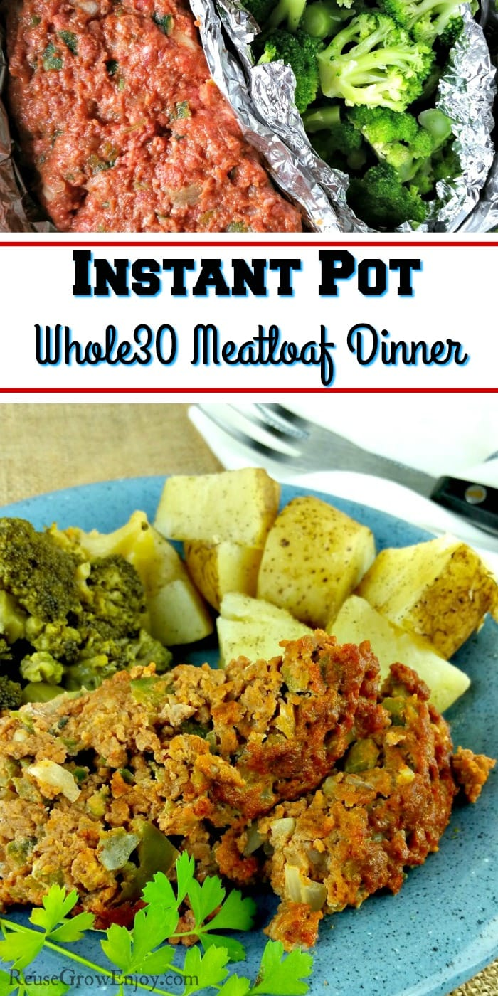 Doing Whole30 and looking for an Instant Pot Whole30 meatloaf recipe to try? I have one for you! Check out this Instant Pot Whole30 Meatloaf Dinner recipe!