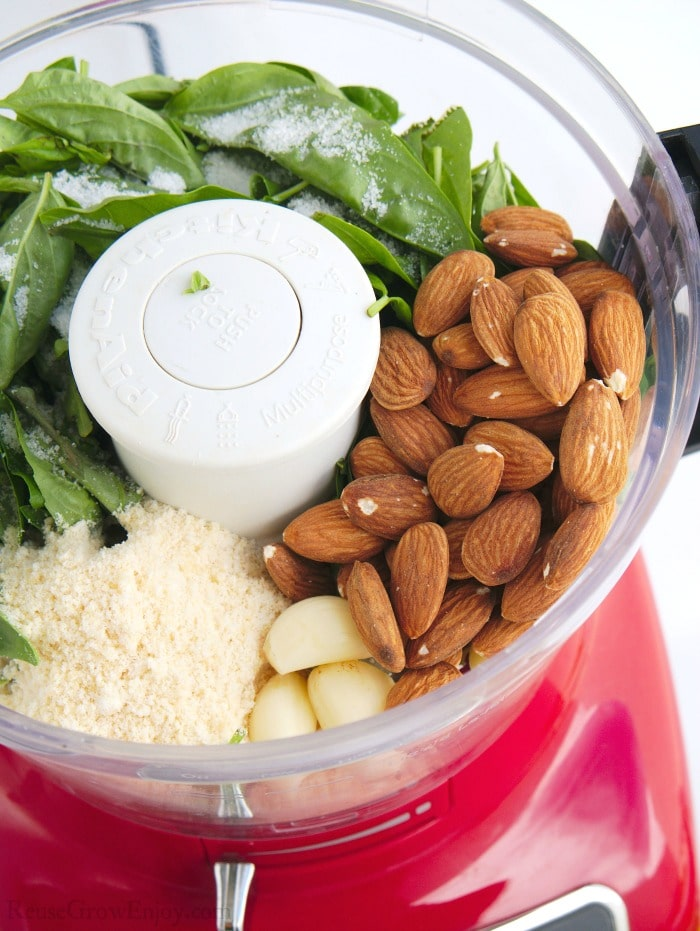 Items added to food processor