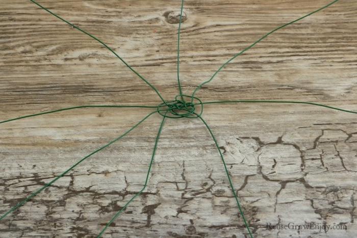 Make wire web in center