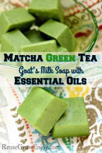 Matcha Green Tea & Goat's Milk Soap with Essential Oils