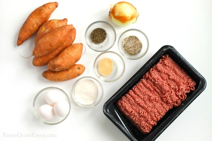 Meatloaf Sweet Potato Muffin Ingredients