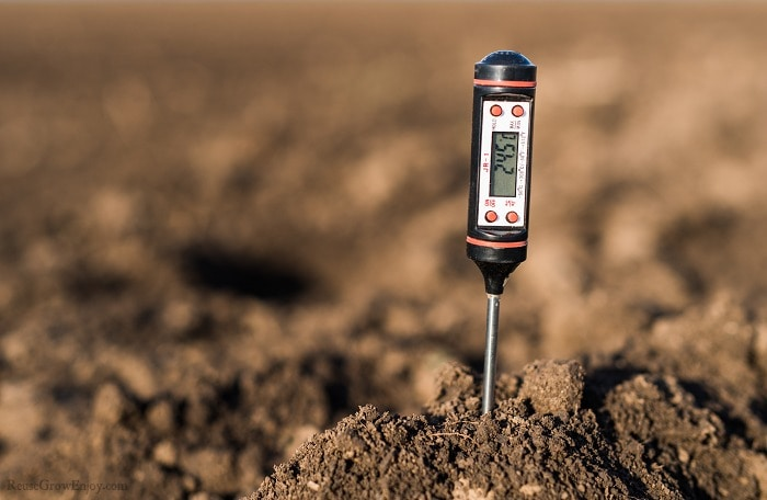 Meter sticking into the soil