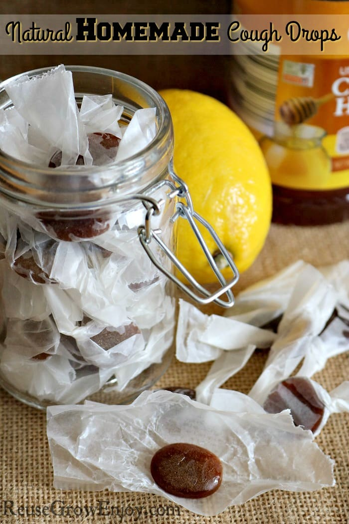 Looking for a more natural way to take care of a cough? Check out this easy to make Natural Homemade Cough Drops!