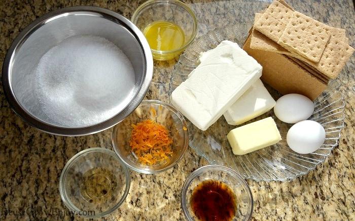 Orange Instant Pot Cheesecake Ingredients
