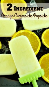 Orange Creamsicle Popsicle 2 Ingredient Recipe (Healthy)