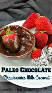 Paleo Chocolate Covered Strawberries