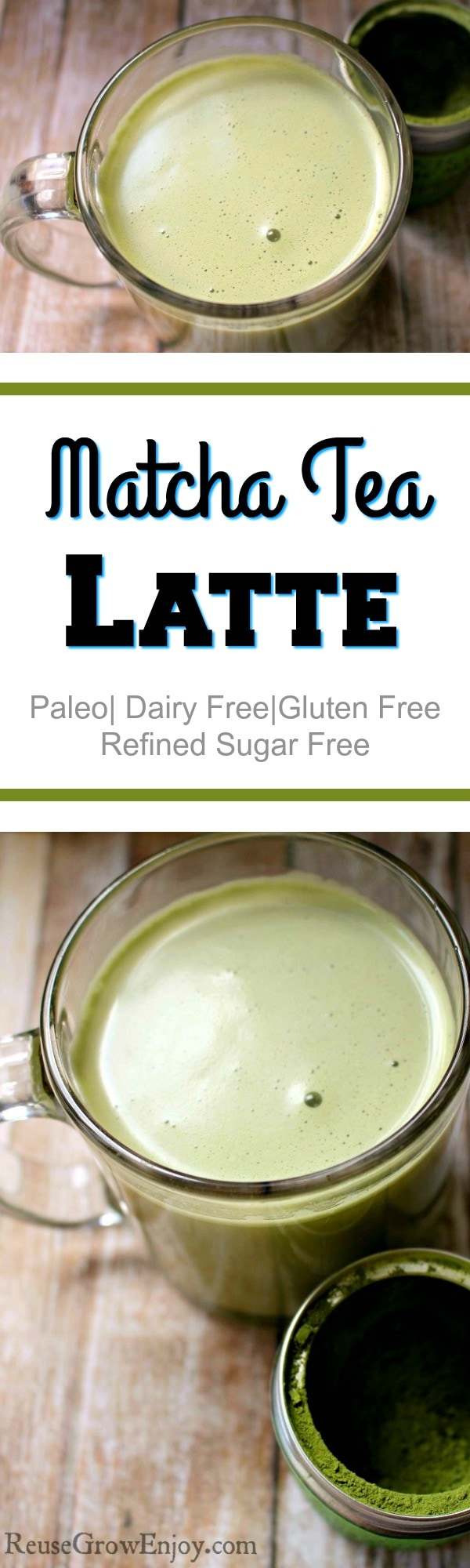 If you are doing the Paleo diet or just eating dairy free you can still enjoy a good latte! I am going to share with you a recipe for Paleo Matcha Tea Latte!