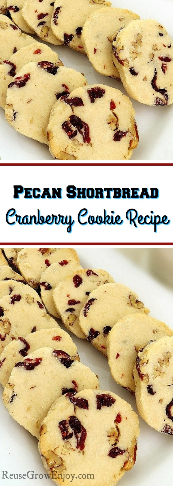 If you find you have a bunch or cranberries in your kitchen, here is a wonderful recipe for a pecan shortbread cranberry cookie!