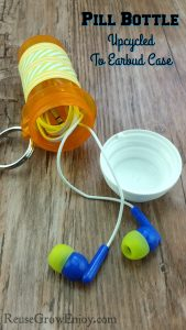 Pill Bottle Upcycled To Earbud Case