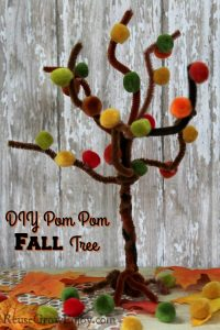 Fall Craft – Easy Pom Pom Fall Tree