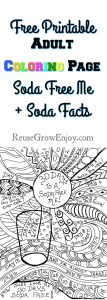 Printable Adult Coloring Page – 30 Days To A Soda Free Me + Soda Facts