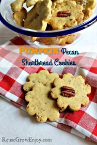 Pumpkin Pecan Shortbread Cookies