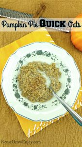 Pumpkin Pie Oats – Made With Quick Oats
