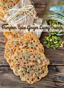 Pumpkin Spice Ginger Lacey Crunch Cookies