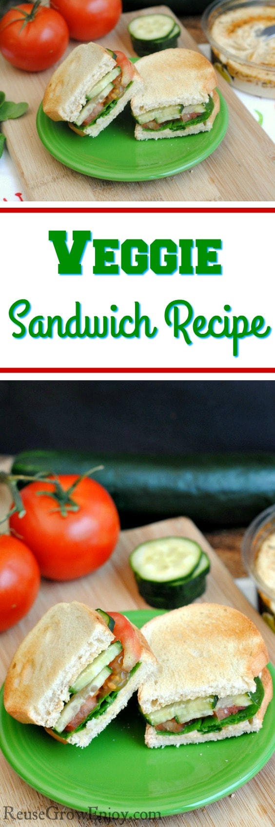 Looking for ways to eat a little more healthy? Check out this super easy to make Veggie Sandwich Recipe!