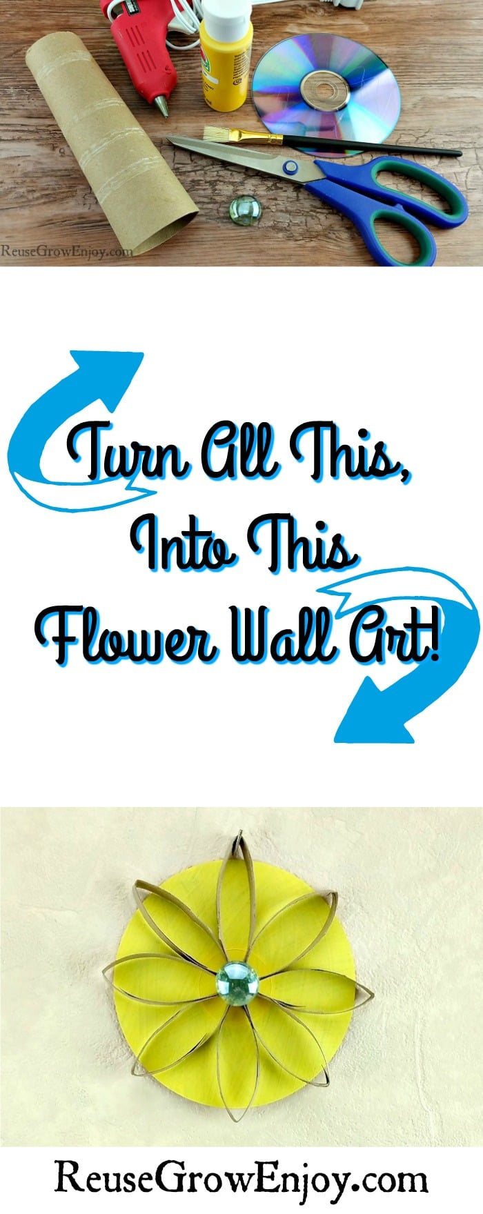 Recycled Flower Wall Art