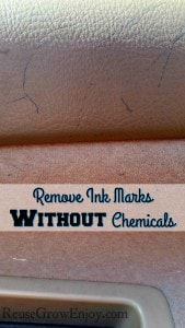 Remove Ink Marks Without Chemicals