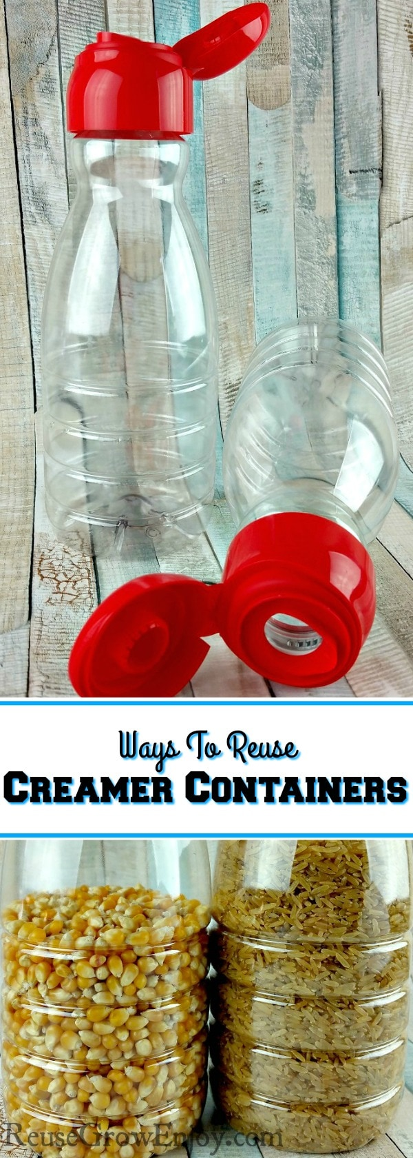 Do you reuse your coffee creamer container? I am going to share some ideas on how you can reuse your coffee creamer containers.