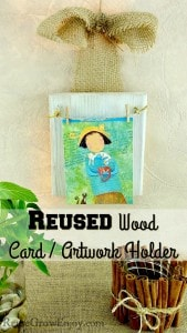 Reused Wood Craft Card / Artwork Holder