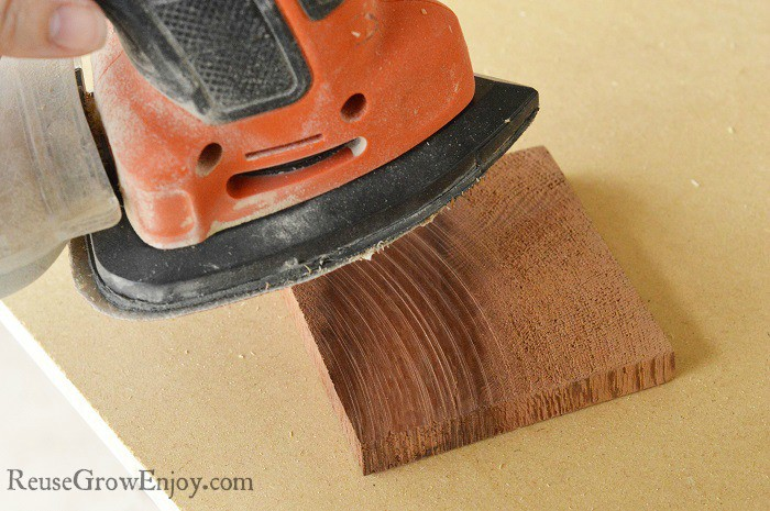 After you have the wood cut into pieces, you can can sand them until they are smooth.
