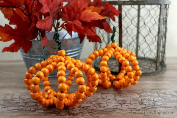 Side by Side bead pumpkins