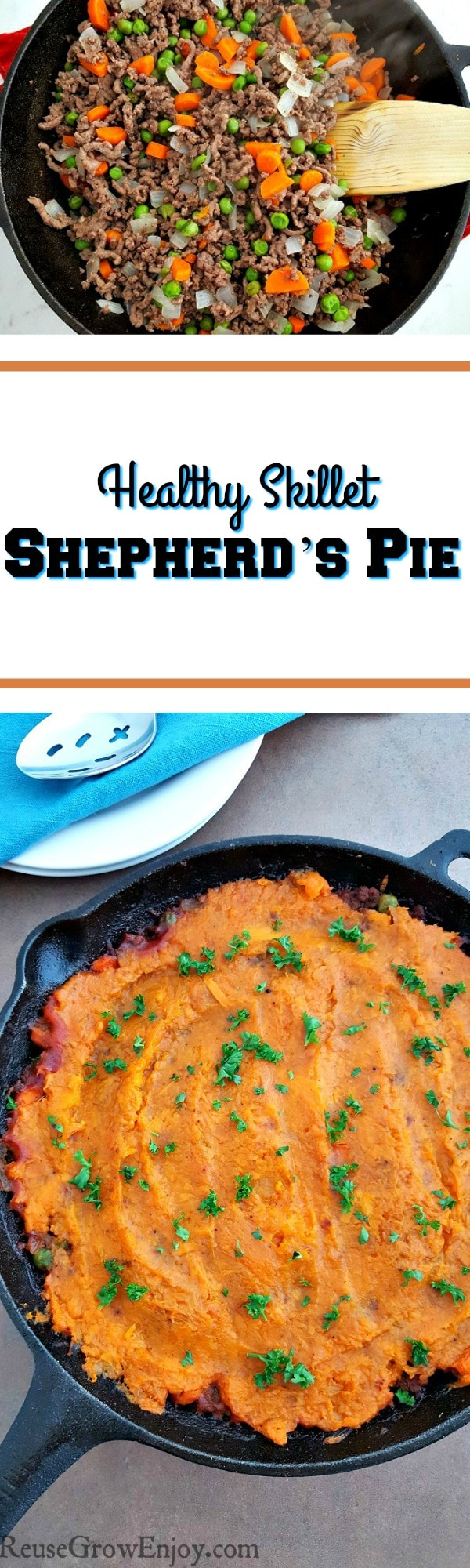 If you are looking for a new and healthy dinner option, check this out. It is a recipe for healthy skillet shepherd's pie!