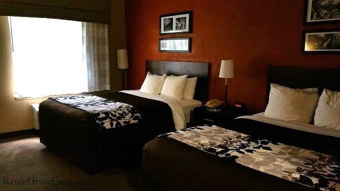 Sleep Inn & Suites has wonderful beds that you are sure to fall asleep on!