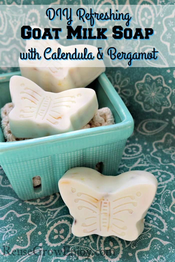 Who is ready to make some soap?? Check out this easy to make Springtime Light & Refreshing Goat Milk Soap with Calendula & Bergamot!