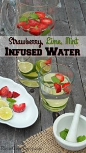 Strawberry, Lime, Mint Infused Water