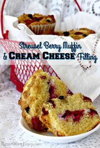 Streusel Berry Muffin With Cream Cheese Filling Recipe