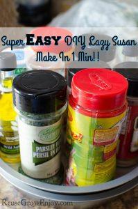 Super Easy DIY Lazy Susan – Make In 1 Min!!