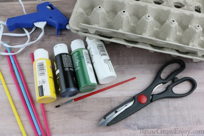 Supplies needed to make flowers
