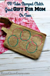 TP Tube Stamped Clutch – Great Gift For Mom Or Teen