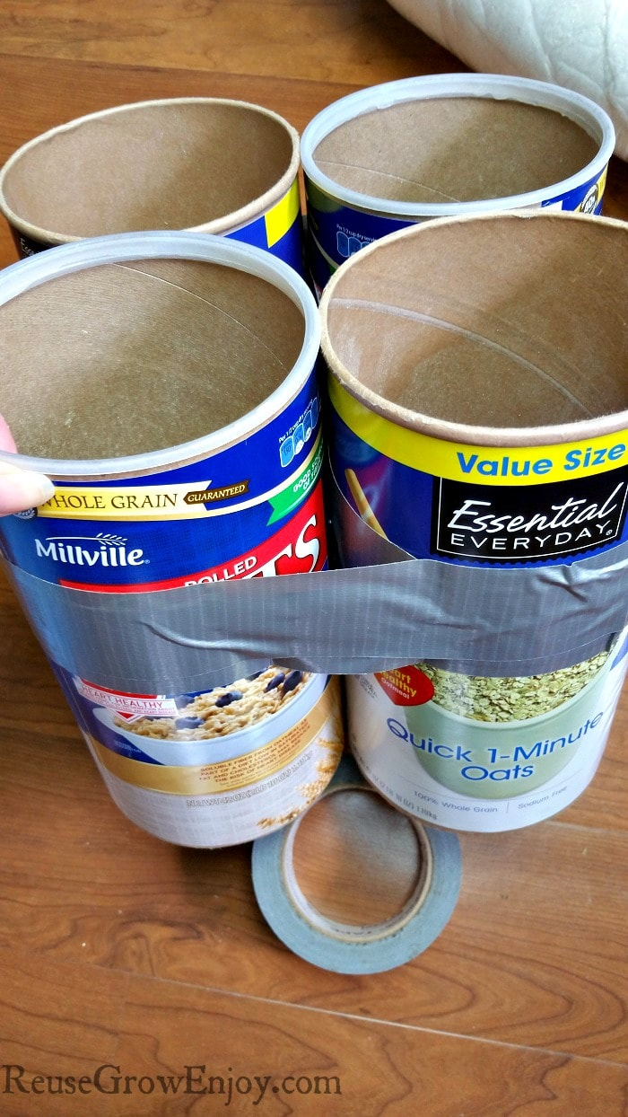 Oatmeal Container Project Oatmeal Canisters Into A Kids