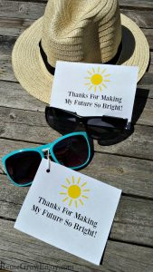 Teacher Gift Idea – Sunglasses With Printable Gift Tag
