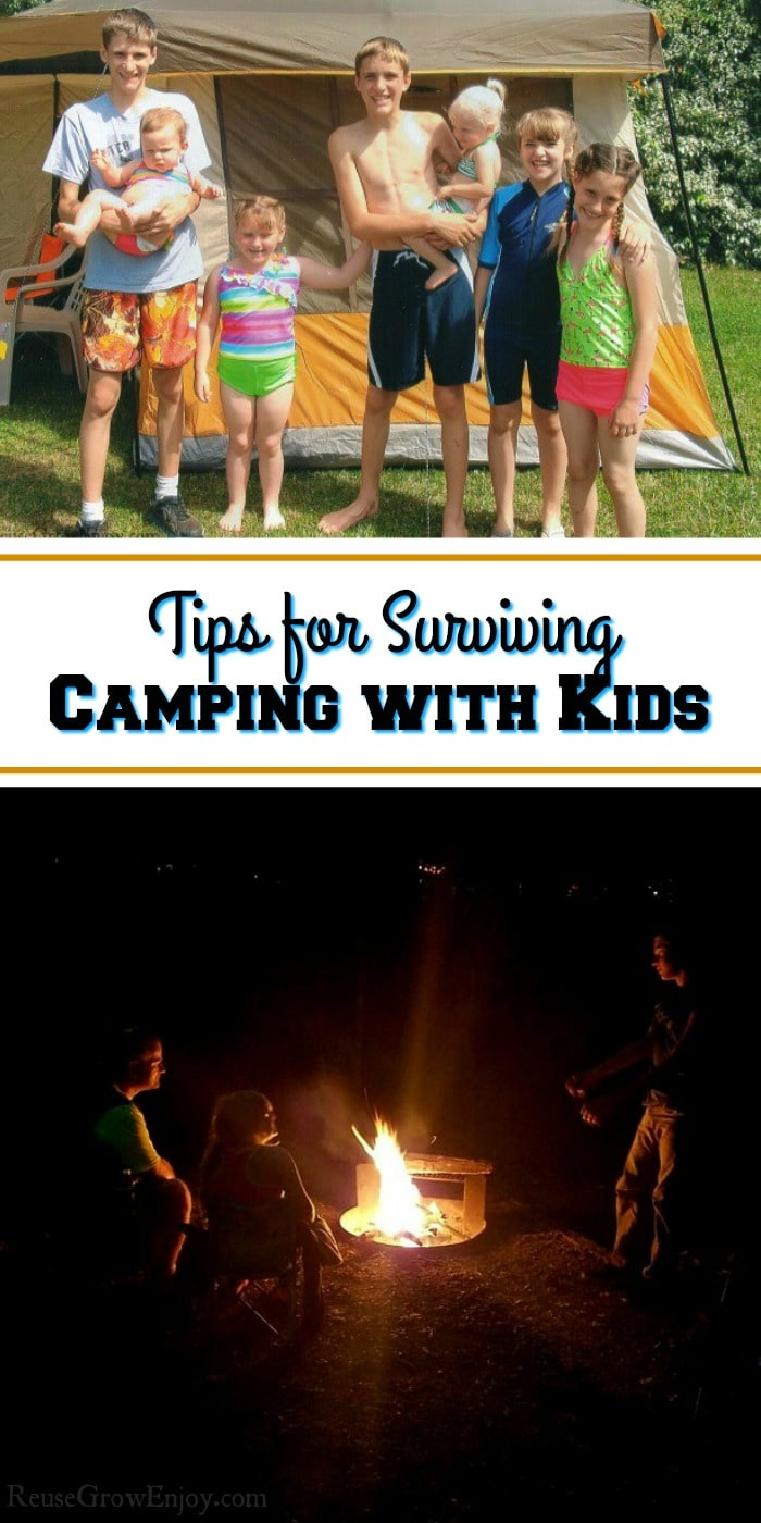 First time family camping trip and worried how it will go with kids? I am going to share some tips on surviving camping with kids! Knowing these tips, hacks, can make camping with kids a lot easier!