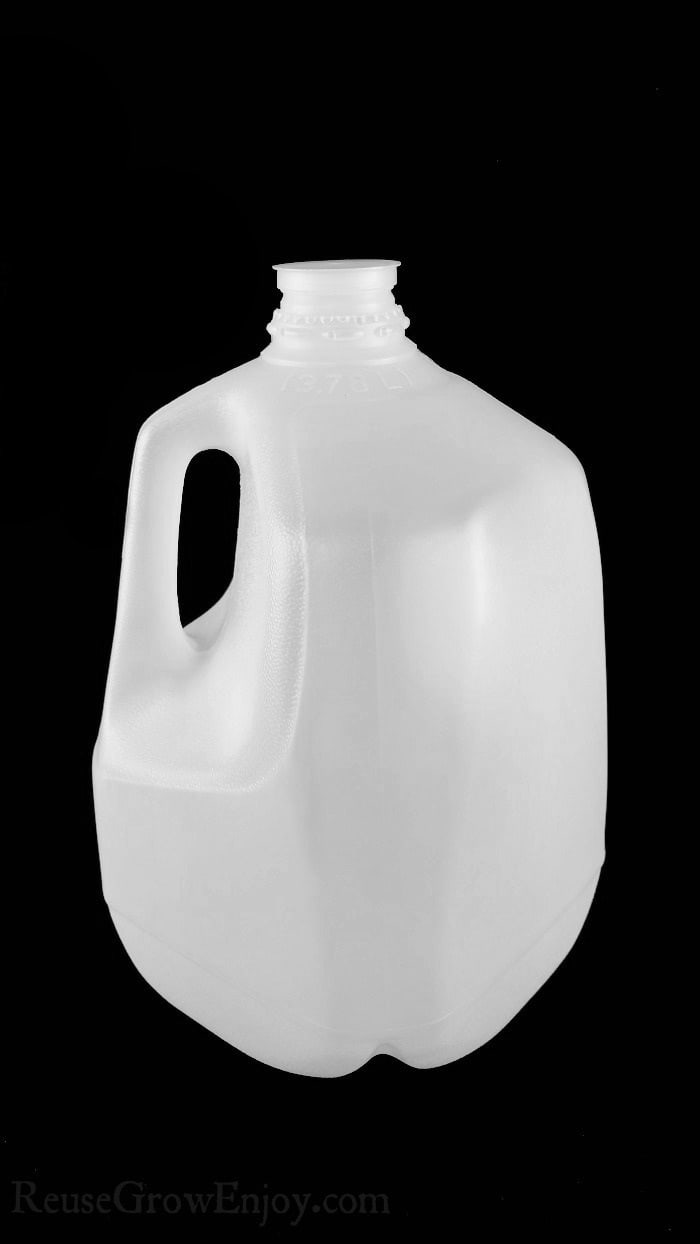 Landfills grow exponentially. Plastic bottles and milk jugs are a huge portion of this problem. Check out these 10 ways to reuse a milk jug.