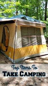 Top Items To Take Camping