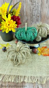 Farmhouse Decor Fall Twine Pumpkin Craft