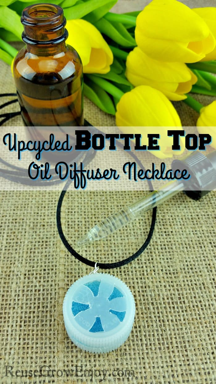 Upcycled Bottle Top Oil Diffuser Necklace