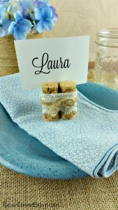 Upcycled Cork Place Holders – Great For Weddings!